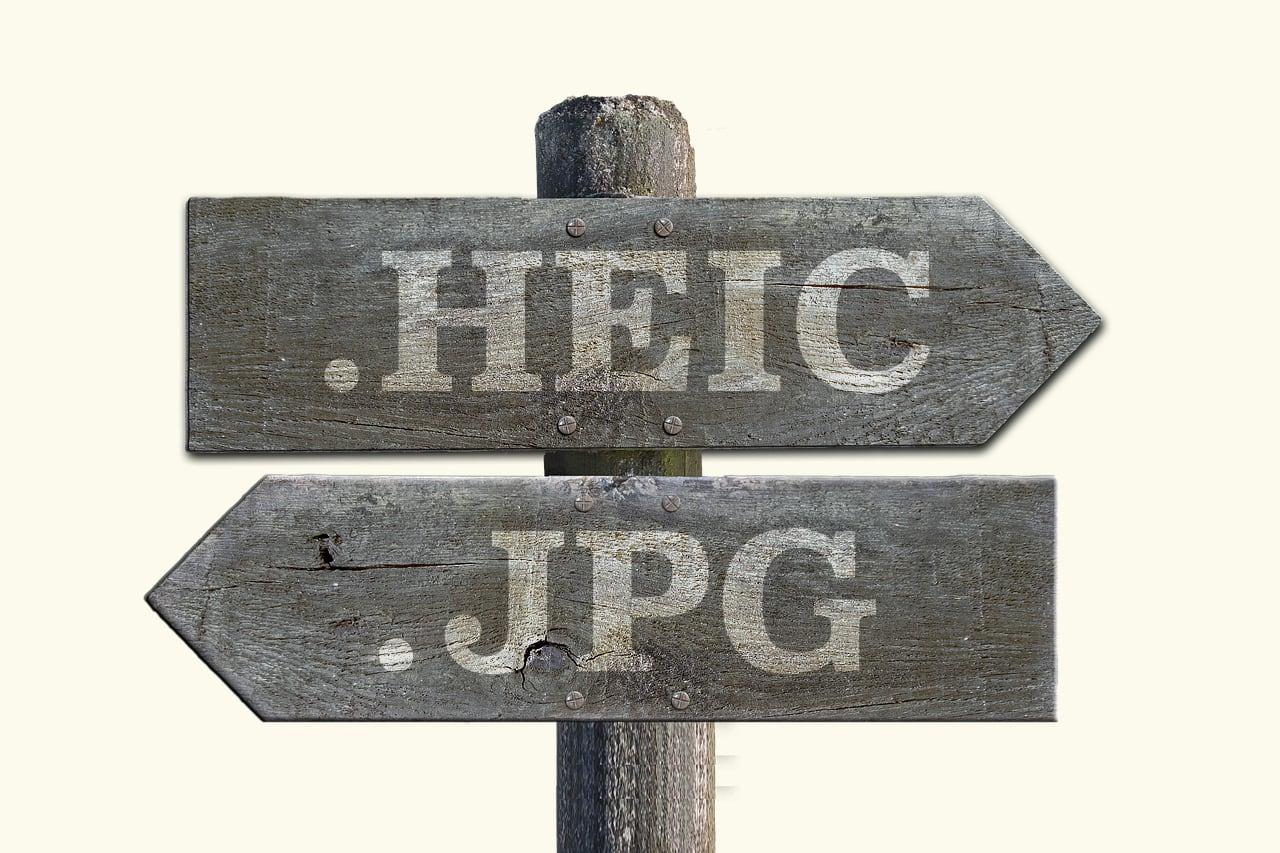 HEIC形式の画像をJPG形式に変換